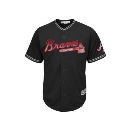 Atlanta Braves Majestic MLB Men's Black Carbon Cool Base Jersey