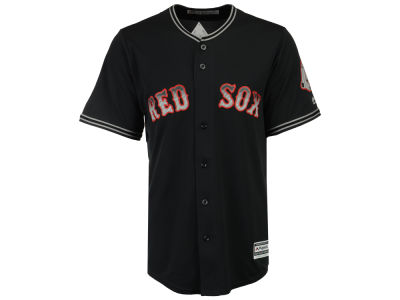 Boston Red Sox Majestic MLB Men's Black Carbon Cool Base Jersey