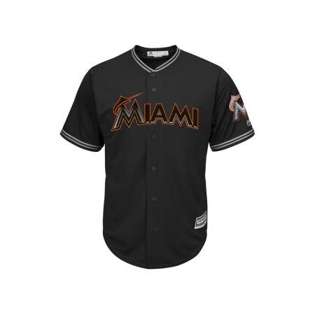 Miami Marlins Majestic MLB Men's Black Carbon Cool Base Jersey