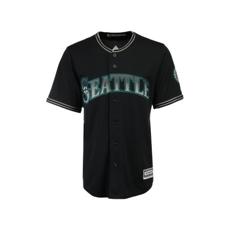Seattle Mariners Majestic MLB Men's Black Carbon Cool Base Jersey