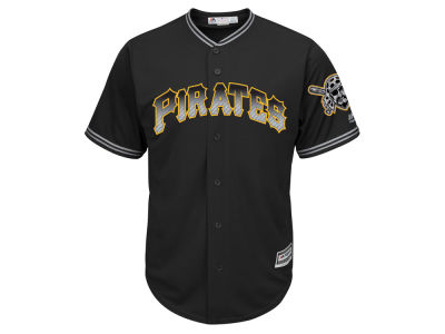 Pittsburgh Pirates Majestic MLB Men's Black Carbon Cool Base Jersey