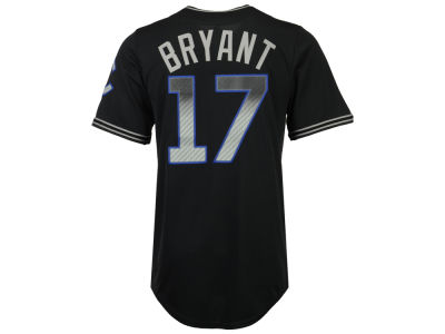 Chicago Cubs Kris Bryant Majestic MLB Men's Black Carbon Cool Base Jersey