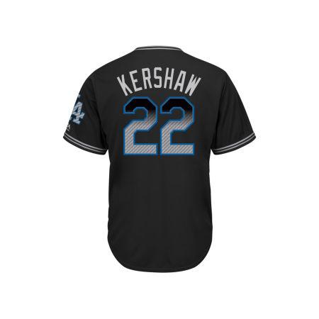 Los Angeles Dodgers Clayton Kershaw Majestic MLB Men's Black Carbon Cool Base Jersey