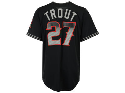 Los Angeles Angels Mike Trout Majestic MLB Men's Black Carbon Cool Base Jersey