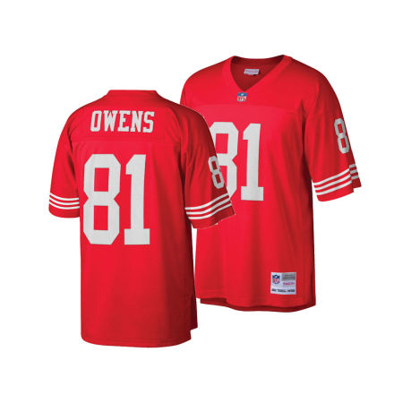 San Francisco 49ers Terrell Owens Mitchell & Ness NFL Replica Throwback Jersey