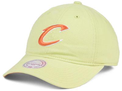 ea9d7f8938c Cleveland Cavaliers Mitchell   Ness NBA Khaki Pastel Dad Hat
