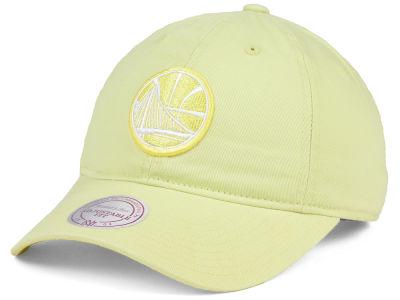 buy popular c75f3 48fda Golden State Warriors Mitchell   Ness NBA Khaki Pastel Dad Hat