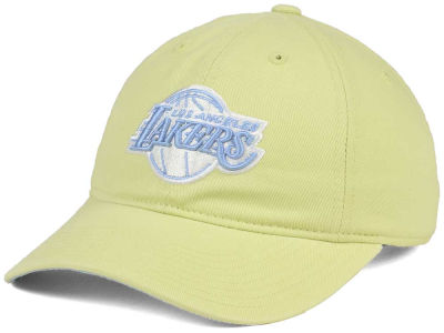 Los Angeles Lakers Mitchell & Ness NBA Khaki Pastel Dad Hat