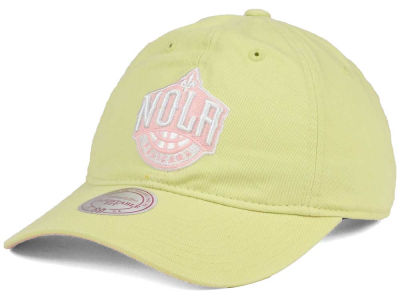 New Orleans Pelicans Mitchell & Ness NBA Khaki Pastel Dad Hat
