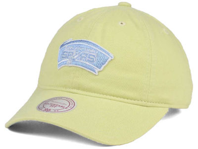 San Antonio Spurs Mitchell & Ness NBA Khaki Pastel Dad Hat