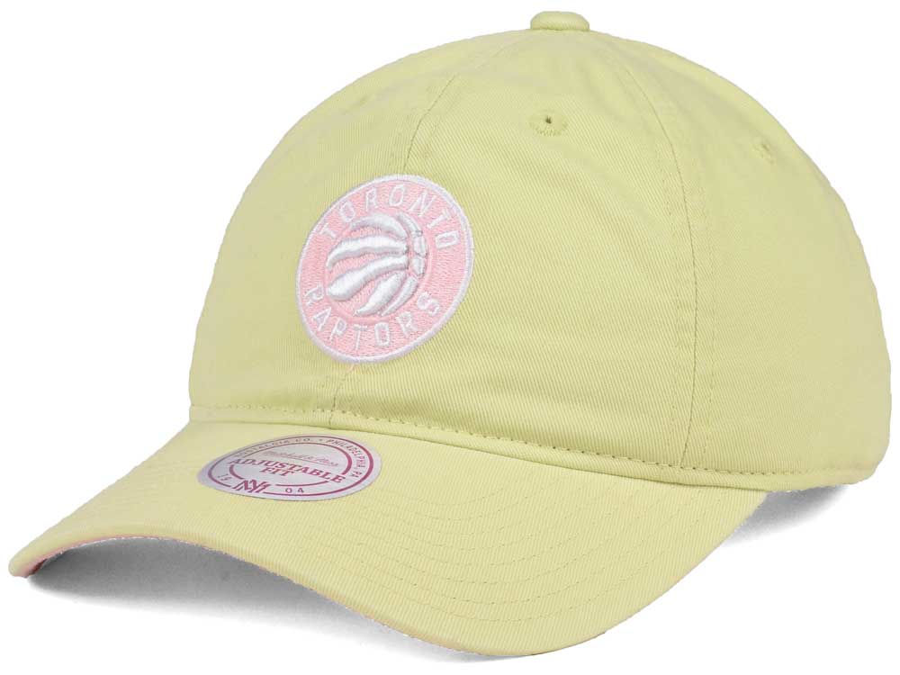 1cf85ceeb66 ... coupon code toronto raptors mitchell ness nba khaki pastel dad hat  18425 c6ab6