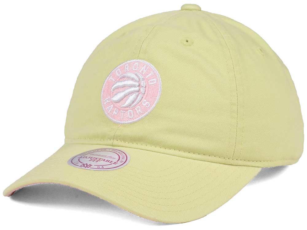 quality design 541ed 44010 ... coupon code toronto raptors mitchell ness nba khaki pastel dad hat  d0e41 025be