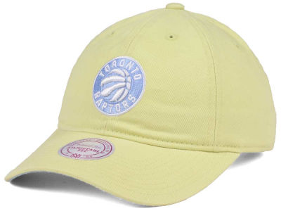 Toronto Raptors Mitchell & Ness NBA Khaki Pastel Dad Hat