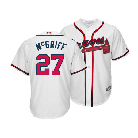 Atlanta Braves Fred McGriff Majestic MLB Men's Cooperstown Player Replica CB Jersey