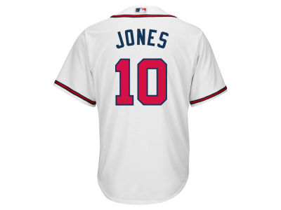 Atlanta Braves Chipper Jones Majestic MLB Men's Cooperstown Player Replica CB Jersey