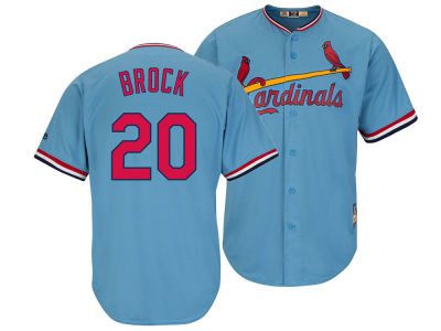 St. Louis Cardinals Lou Brock Majestic MLB Men's Cooperstown Player Replica CB Jersey
