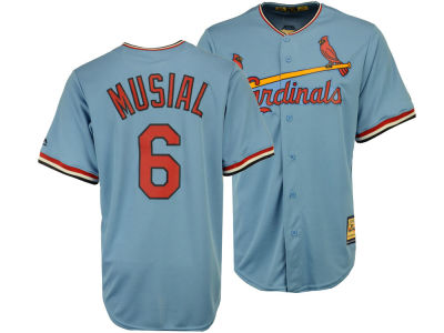 St. Louis Cardinals Stan Musial Majestic MLB Men's Cooperstown Player Replica CB Jersey