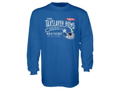 Kentucky Wildcats Blue 84 NCAA Men's Bowl Helmet Long Sleeve T-Shirt