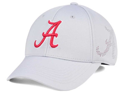 Alabama Crimson Tide Top of the World NCAA Light Gray Rails Flex Cap