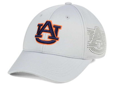 Auburn Tigers Top of the World NCAA Light Gray Rails Flex Cap