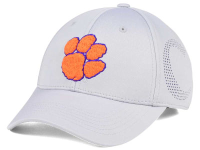 Clemson Tigers Top of the World NCAA Light Gray Rails Flex Cap