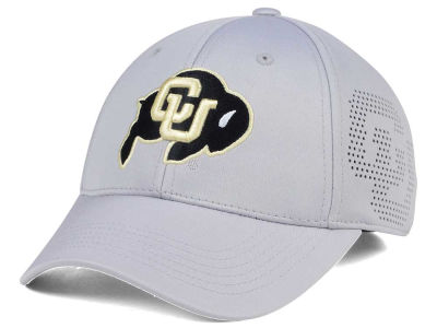 Colorado Buffaloes Top of the World NCAA Light Gray Rails Flex Cap