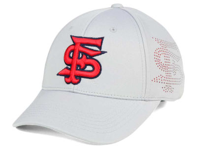 Fresno State Bulldogs Top of the World NCAA Light Gray Rails Flex Cap
