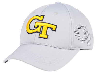 Georgia-Tech Top of the World NCAA Light Gray Rails Flex Cap