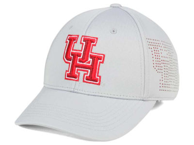 Houston Cougars Top of the World NCAA Light Gray Rails Flex Cap