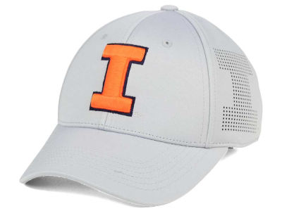 Illinois Fighting Illini Top of the World NCAA Light Gray Rails Flex Cap