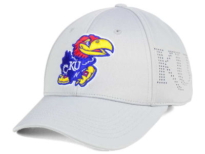 Kansas Jayhawks Top of the World NCAA Light Gray Rails Flex Cap