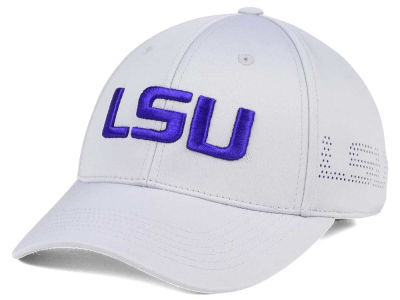 LSU Tigers Top of the World NCAA Light Gray Rails Flex Cap
