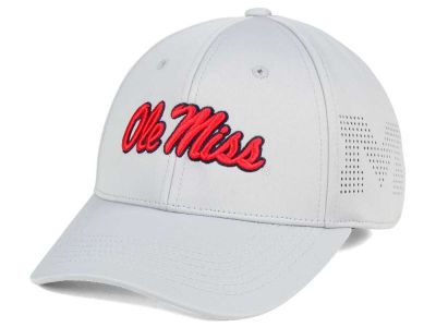 Ole Miss Rebels Top of the World NCAA Light Gray Rails Flex Cap