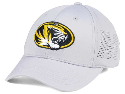 Missouri Tigers Top of the World NCAA Light Gray Rails Flex Cap