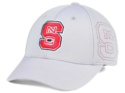 North Carolina State Wolfpack Top of the World NCAA Light Gray Rails Flex Cap