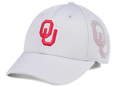 Oklahoma Sooners Top of the World NCAA Light Gray Rails Flex Cap