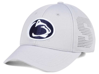 Penn State Nittany Lions Top of the World NCAA Light Gray Rails Flex Cap