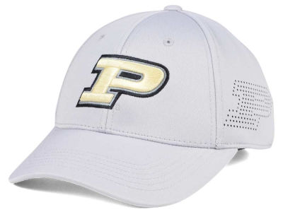 Purdue Boilermakers Top of the World NCAA Light Gray Rails Flex Cap
