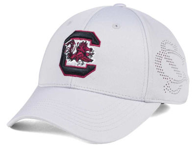 South Carolina Gamecocks Top of the World NCAA Light Gray Rails Flex Cap