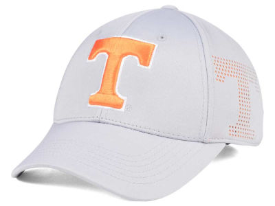 Tennessee Volunteers Top of the World NCAA Light Gray Rails Flex Cap