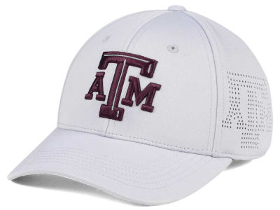 Texas A&M Aggies Top of the World NCAA Light Gray Rails Flex Cap