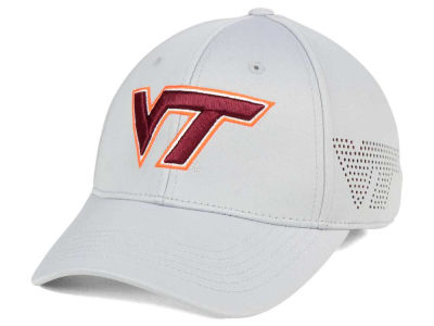 Virginia Tech Hokies Top of the World NCAA Light Gray Rails Flex Cap