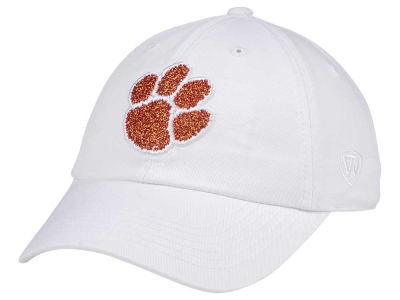 Clemson Tigers Top of the World Women's White Glimmer Cap