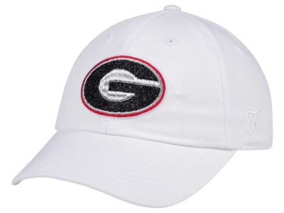 Georgia Bulldogs Top of the World Women's White Glimmer Cap