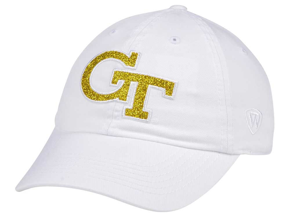 finest selection deddb 7b9e8 shop georgia tech top of the world womens white glimmer cap b67db 73537