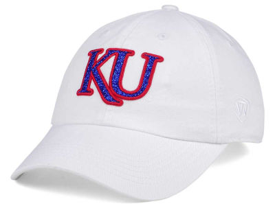 Kansas Jayhawks Top of the World Women's White Glimmer Cap