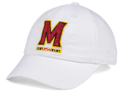 Maryland Terrapins Top of the World Women's White Glimmer Cap