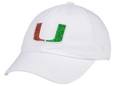 Miami Hurricanes Top of the World Women's White Glimmer Cap