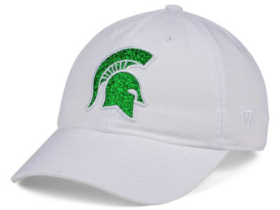 Michigan State Spartans Top of the World Women's White Glimmer Cap