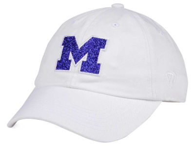 Michigan Wolverines Top of the World Women's White Glimmer Cap